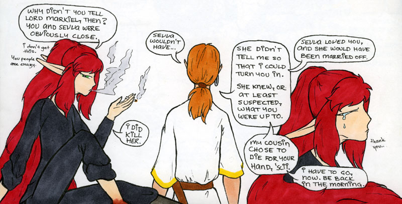 Shadowrose doubts the Captain's story.